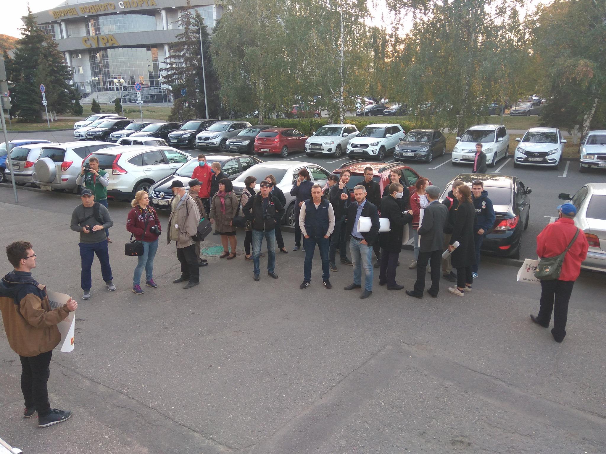 Пикет в защиту депутата Пензенской гордумы Виктора Хомца прошел с элементами издевательства над властью